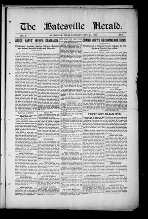 Primary view of object titled 'The Batesville Herald. (Batesville, Tex.), Vol. 4, No. 2, Ed. 1 Saturday, September 24, 1904'.