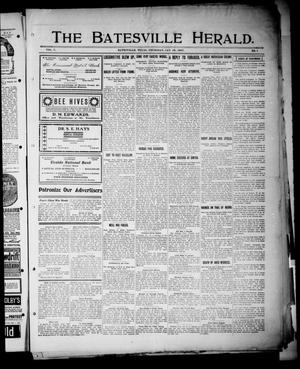 Primary view of object titled 'The Batesville Herald. (Batesville, Tex.), Vol. 7, No. 1, Ed. 1 Thursday, January 10, 1907'.
