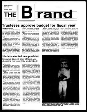 Primary view of object titled 'The Brand (Abilene, Tex.), Vol. 77, No. 5, Ed. 1, Thursday, March 8, 1990'.