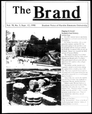 Primary view of object titled 'The Brand (Abilene, Tex.), Vol. 78, No. 3, Ed. 1, Wednesday, September 12, 1990'.