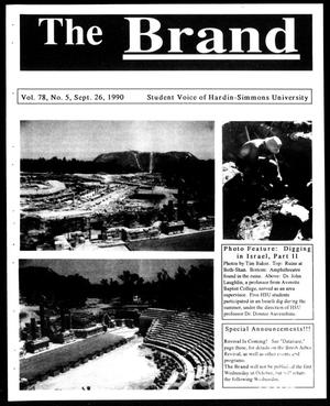 Primary view of object titled 'The Brand (Abilene, Tex.), Vol. 78, No. 5, Ed. 1, Wednesday, September 26, 1990'.