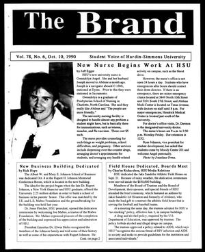 Primary view of object titled 'The Brand (Abilene, Tex.), Vol. 78, No. 6, Ed. 1, Wednesday, October 10, 1990'.