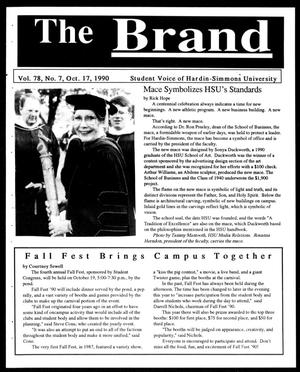 Primary view of object titled 'The Brand (Abilene, Tex.), Vol. 78, No. 7, Ed. 1, Wednesday, October 17, 1990'.