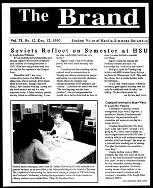 Primary view of object titled 'The Brand (Abilene, Tex.), Vol. 78, No. 12, Ed. 1, Wednesday, December 12, 1990'.