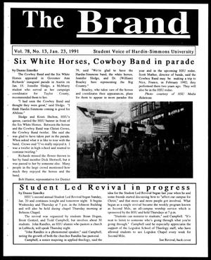 Primary view of object titled 'The Brand (Abilene, Tex.), Vol. 78, No. 13, Ed. 1, Wednesday, January 23, 1991'.