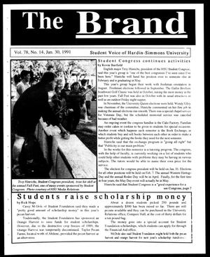 Primary view of object titled 'The Brand (Abilene, Tex.), Vol. 78, No. 14, Ed. 1, Wednesday, January 30, 1991'.