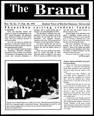 Primary view of object titled 'The Brand (Abilene, Tex.), Vol. 78, No. 17, Ed. 1, Wednesday, February 20, 1991'.