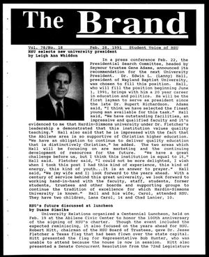 Primary view of object titled 'The Brand (Abilene, Tex.), Vol. 78, No. 18, Ed. 1, Thursday, February 28, 1991'.