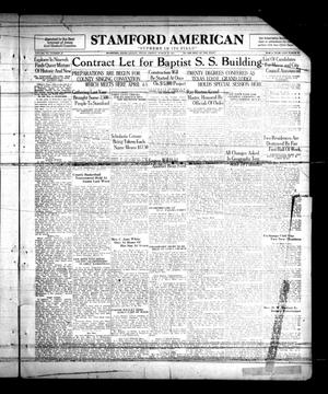 Primary view of object titled 'Stamford American (Stamford, Tex.), Vol. 7, No. 48, Ed. 1 Friday, March 13, 1931'.