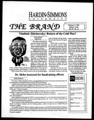 The Brand (Abilene, Tex.), Vol. 81, No. 14, Ed. 1, Thursday, February 3, 1994