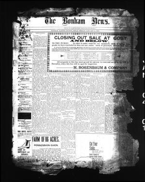 Primary view of The Bonham News. (Bonham, Tex.), Vol. 35, No. 31, Ed. 1 Friday, January 4, 1901