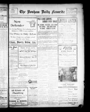 Primary view of The Bonham Daily Favorite (Bonham, Tex.), Vol. 16, No. 312, Ed. 1 Friday, July 31, 1914