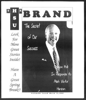 Primary view of object titled 'The HSU Brand (Abilene, Tex.), Vol. 86, No. 8, Ed. 1, Thursday, March 11, 1999'.