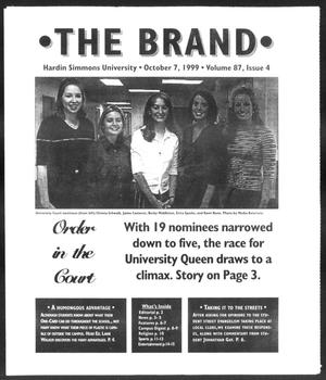 Primary view of object titled 'The Brand (Abilene, Tex.), Vol. 87, No. 4, Ed. 1, Thursday, October 7, 1999'.