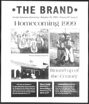 Primary view of object titled 'The Brand (Abilene, Tex.), Vol. 87, No. 5, Ed. 1, Friday, October 15, 1999'.