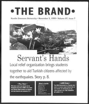 Primary view of object titled 'The Brand (Abilene, Tex.), Vol. 87, No. 7, Ed. 1, Friday, November 5, 1999'.