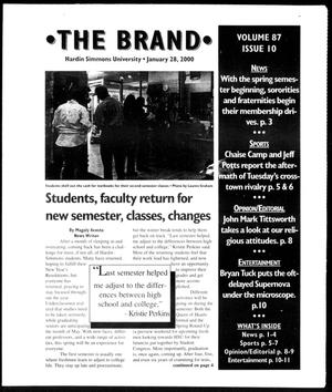 Primary view of object titled 'The Brand (Abilene, Tex.), Vol. 87, No. 10, Ed. 1, Friday, January 28, 2000'.