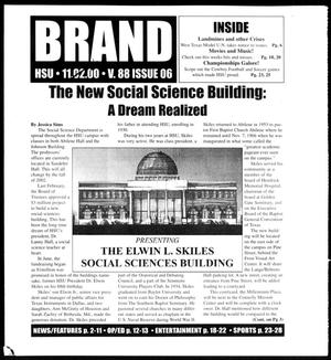 Brand (Abilene, Tex.), Vol. 88, No. 7, Ed. 1, Thursday, November 16, 2000