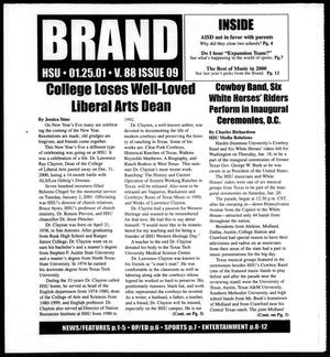 Primary view of object titled 'Brand (Abilene, Tex.), Vol. 88, No. 9, Ed. 1, Thursday, January 25, 2001'.