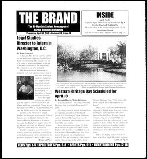 Primary view of object titled 'The Brand (Abilene, Tex.), Vol. 88, No. 14, Ed. 1, Thursday, April 12, 2001'.
