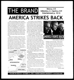 Primary view of object titled 'The Brand (Abilene, Tex.), Vol. 89, No. 4, Ed. 1, Thursday, October 11, 2001'.