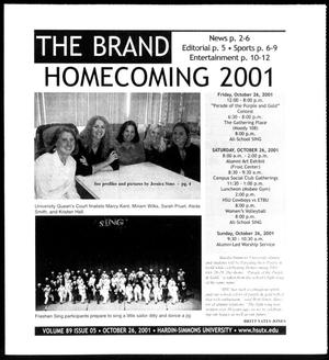 Primary view of object titled 'The Brand (Abilene, Tex.), Vol. 89, No. 5, Ed. 1, Friday, October 26, 2001'.