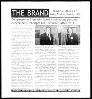 Primary view of object titled 'The Brand (Abilene, Tex.), Vol. 89, No. 10, Ed. 1, Thursday, February 21, 2002'.