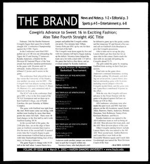 Primary view of object titled 'The Brand (Abilene, Tex.), Vol. 89, No. 11, Ed. 1, Thursday, March 7, 2002'.