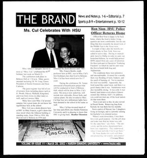 Primary view of object titled 'The Brand (Abilene, Tex.), Vol. 89, No. 11, Ed. 1, Thursday, March 28, 2002'.