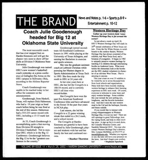 Primary view of object titled 'The Brand (Abilene, Tex.), Vol. 89, No. 11, Ed. 1, Thursday, April 11, 2002'.