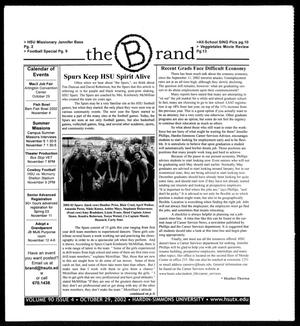 The Brand (Abilene, Tex.), Vol. 90, No. 4, Ed. 1, Tuesday, October 29, 2002