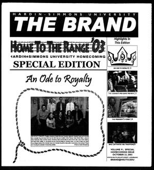 The Brand (Abilene, Tex.), Vol. 91, Ed. 1, Thursday, October 23, 2003