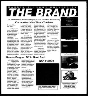 Primary view of object titled 'The Brand (Abilene, Tex.), Vol. 92, No. 2, Ed. 1, Tuesday, August 31, 2004'.