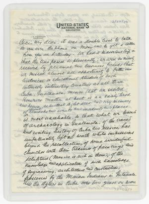 Primary view of object titled '[Letter from I. H. to Cecile Kempner, February 27, 1950]'.