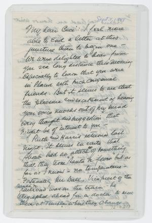 Primary view of object titled '[Letter from I. H. to Cecile Kempner, September 4, 1948]'.