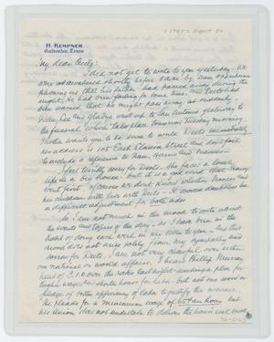 Primary view of object titled '[Letter from Isaac to Cecile, August 20, 1945]'.