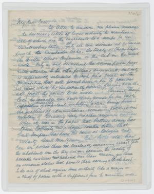Primary view of object titled '[Letter from Isaac to Cecile, March 18, 1945]'.