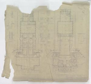 Primary view of object titled 'Hendrick Home for Children, Abilene, Texas: First Floor & Basement Plans of Administration Building'.