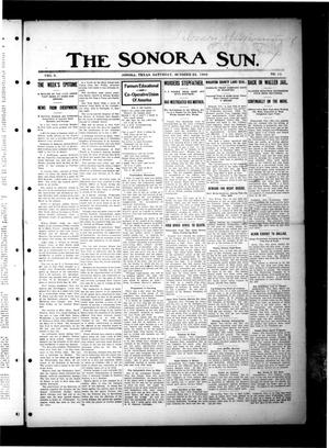 Primary view of object titled 'The Sonora Sun. (Sonora, Tex.), Vol. 6, No. 15, Ed. 1 Saturday, October 24, 1908'.