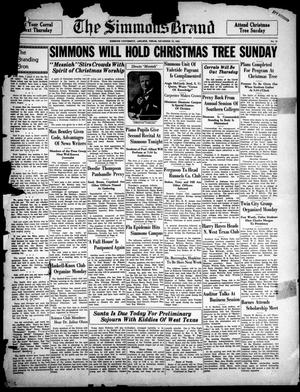 The Simmons Brand (Abilene, Tex.), Vol. 17, No. 12, Ed. 1, Saturday, December 10, 1932