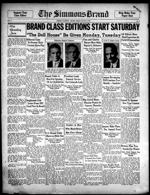 Primary view of The Simmons Brand (Abilene, Tex.), Vol. 17, No. 17, Ed. 1, Saturday, January 28, 1933