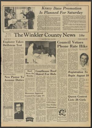 Primary view of object titled 'The Winkler County News (Kermit, Tex.), Vol. 36, No. 37, Ed. 1 Thursday, July 27, 1972'.