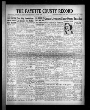 Primary view of object titled 'The Fayette County Record (La Grange, Tex.), Vol. 29, No. 36, Ed. 1 Tuesday, March 6, 1951'.