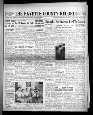 Primary view of object titled 'The Fayette County Record (La Grange, Tex.), Vol. 29, No. 75, Ed. 1 Friday, July 20, 1951'.