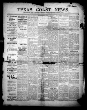 Primary view of object titled 'Texas Coast News. (Texas City, Tex.), Vol. 1, No. 6, Ed. 1 Wednesday, February 13, 1895'.