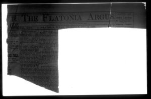 Primary view of object titled 'The Flatonia Argus. (Flatonia, Tex.), Vol. 25, No. 7, Ed. 1 Thursday, November 9, 1899'.