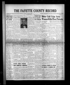 Primary view of object titled 'The Fayette County Record (La Grange, Tex.), Vol. 29, No. 27, Ed. 1 Friday, February 2, 1951'.