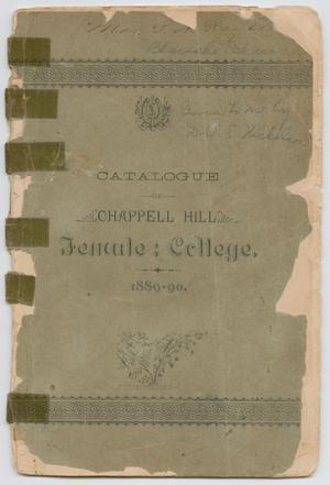 Catalog of Chappell Hill Female College, 1890