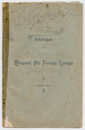 Primary view of object titled 'Catalog of Chappell Hill Female College, 1888-1889'.
