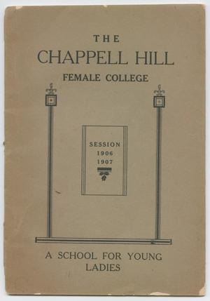 Catalog of Chappell Hill Female College, 1906